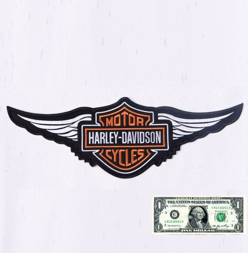 EMBROIDERY SEW ON PATCH SCREAMING EAGLE ORANGE WHITE FOR VESTS /& JACKETS